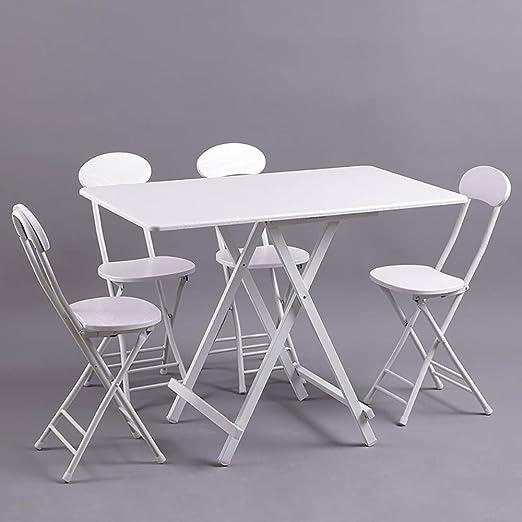 Produzione Sedie E Tavoli In Legno.Qjjml Set Di Sedie E Tavoli Pieghevoli In Legno Tavolo Da Pic Nic