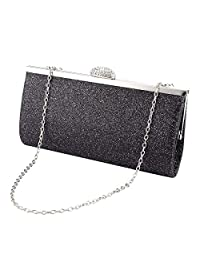Anladia Women Glitter Clutch Purse Evening Bag Wedding Party Prom Handbag