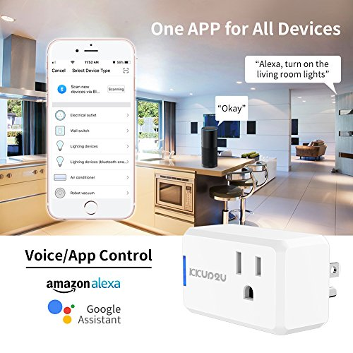 Smart Plug 4-Pack Upgraded Mini WiFi Smart Socket Outlet Work with Amazon Alexa Echo/Google Assistant and IFTTT, No Hub Required by KKUP2U by KKUP2U (Image #3)