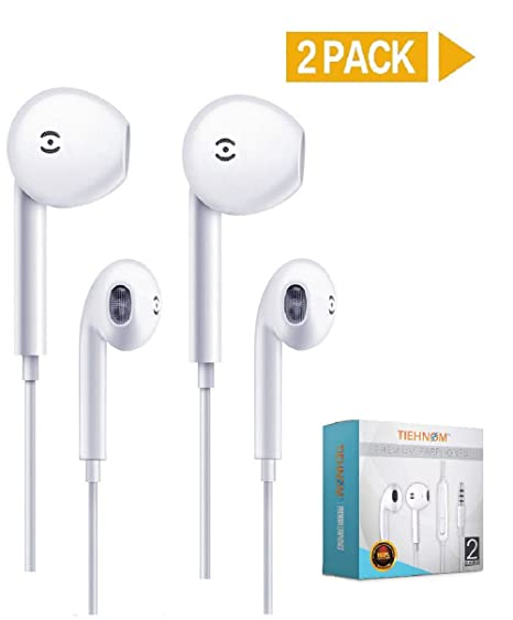 Amazon com: 2-Pack Premium Earphones, Headphones Headset
