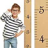 "Growth Chart Art | Wooden Height Chart for Kids, Boys and Girls | Honey Maple Ruler with Black Numerals - 58"" x 5.75"""