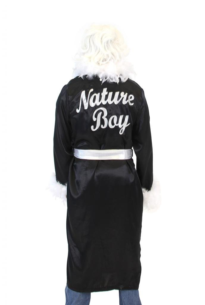 Ric Flair Nature Boy Costume Robe and Wig (Black) by Costume Agent