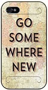 Go somewhere new - Vintage map - Adventurer iPhone 5C plastic case BLACK - (Row 11-C)