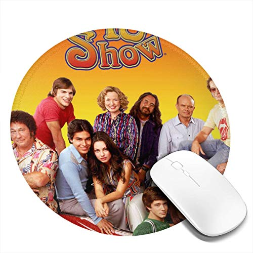 Tchcf That 70s Show- Thickened Design 7.9x7.9 in Control Desks Mouse Pads for Computers