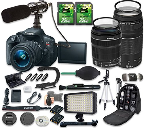 Canon EOS Rebel T5i DLSR Camera Bundle with Canon ...