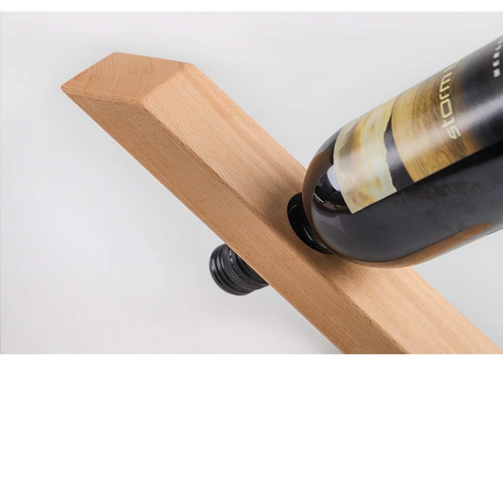 ECC,1 Utilizzata in Soggiorno VLERHH Cremagliera del Vino,Portabottiglie in Legno Bilanciato in Stile Giapponese Ristorante Bella Decorazione Domestica Armadietto per Vini