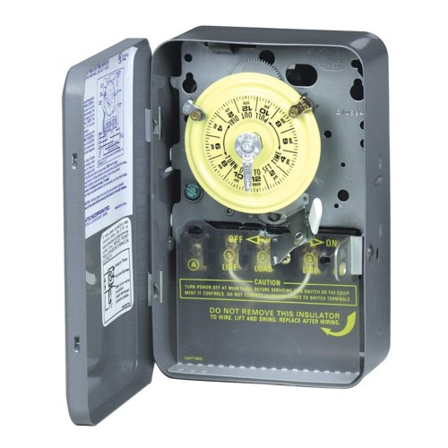Intermatic WH40 Electric Water Heater Timer, (Intermatic Steel Indoor Switch)