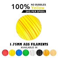 ABS Filaments for 3D Printer-SUNLU Yellow ABS Filament 1.75 mm,Low Odor Dimensional Accuracy +/- 0.02 mm 3D Printing Filament,2.2 LBS (1KG) Spool 3D Printer Filament for 3D Printers & 3D Pens,Yellow by SUNLUGW