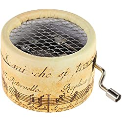 Type2 Paper Exquisite Musical Box Hand Crank Music Box for Option DIY wedding souvenirs gifts old musical notes style
