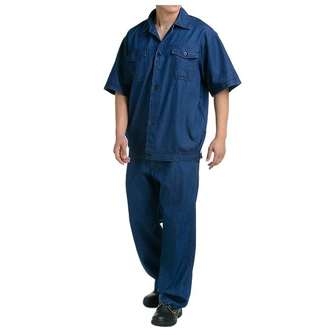 verano manga corta traje chaqueta de trabajo protección uniforme chaqueta soldador soldadura soldador ropa 190: Amazon.es: Ropa y accesorios