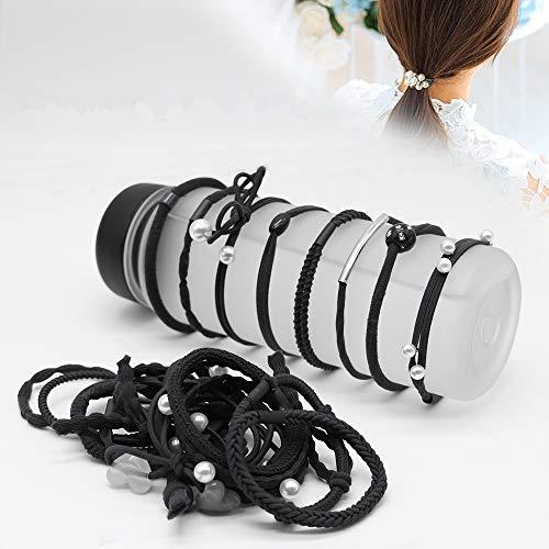 [해외]헤어 고무 줄 헤어 악세사리 머리 핀 여성 인기 24 개 세트 심플 세련 된 어른 여자 링 고무 줄 헤어 밴드 / Hair Rubber Hair Accessories Hair Clasp Women`s Popular 24pcs Set Simple Fashionable Adult Cute Women Ring Rubber Hair Band