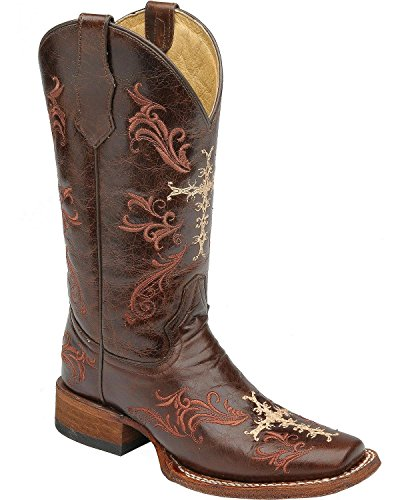 Marrone Da Donna Cowboy Delle Stivali Boots Corral L5080 0Tdzq