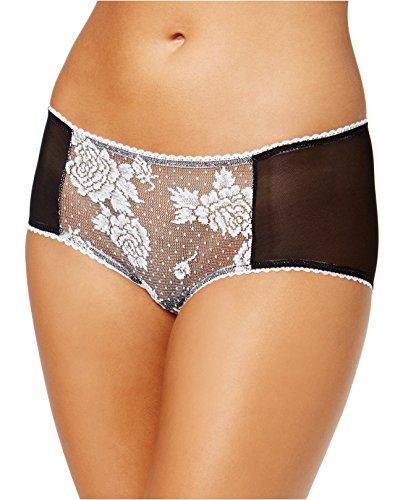 Free People Women's Jacquard Mesh-Rose Hipster Underwear (Women's X-Small/0-2, Black)