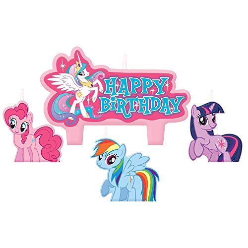 My Little Pony Mini Molded Cake Candles (4 Pack) - Party Supplies ()