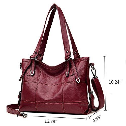 Satchel Leather Handbag Ladies shopping work Shoulder for Women PU party Black Classical Bag xUq5yI4