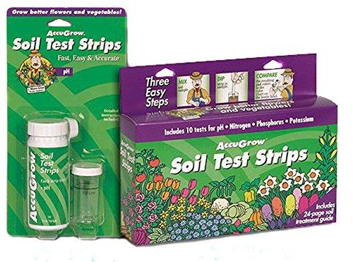 ETS 571802 ACCUGROW TEST STRIP FOR SOIL pH, NITROGEN, PHOSPHOROUS & POTASSIUM 10/KIT (SOLD INDIVIDUALLY) MC12685