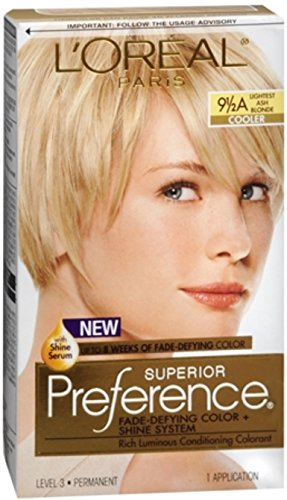 L'Oreal Superior Preference - 9-1/2A Lightest Ash Blonde (Cooler) 1 Each (Pack of 12)