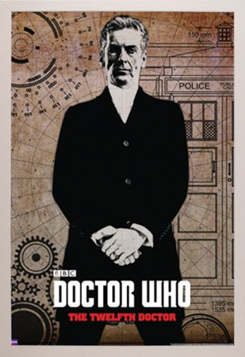 Doctor Who - Peter Capaldi Poster in a White Plastic Frame