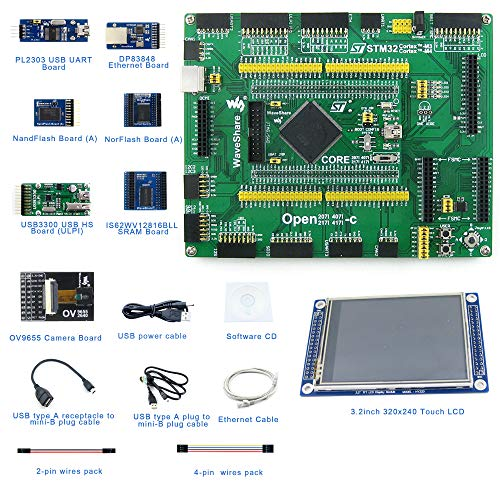 Designed for the STM32F4 Series, Open Source Electronic Hardware STM32 Development Kit, Features the STM32F407IGT6 MCU, Cortex-M4 32-bit RISC, Includes STM32F407IGT6 MCU Board, Mother Board, etc.