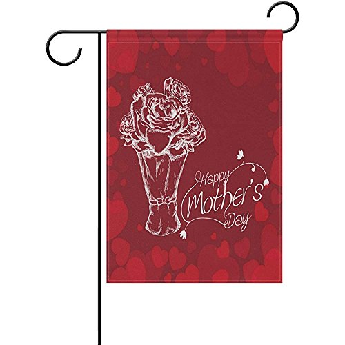 Staromil Mothers Day White Bouquet Roses Personalized Garden Flags Decorative Outdoor Flags for Yard and Wedding Printed on Both Sides 12 x 18
