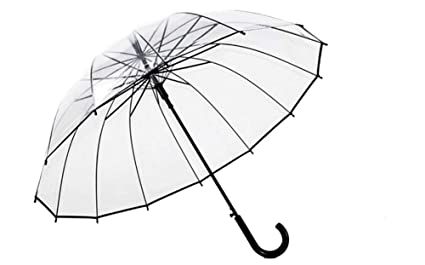 Paraguas Plegables Espesar Paraguas Transparente Mujer Japonesa Pequeña Personalidad Pareja Estudiante Creativo Paraguas Masculino Mango Largo