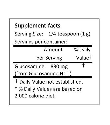 Amazon.com: nusci Glucosamina HCL en polvo puro para la ...