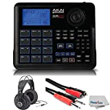 Akai Professional XR20 | Beat Production Station Drum Machine + Studio Headphones + Stereo Interconnect Cable & Clean Cloth