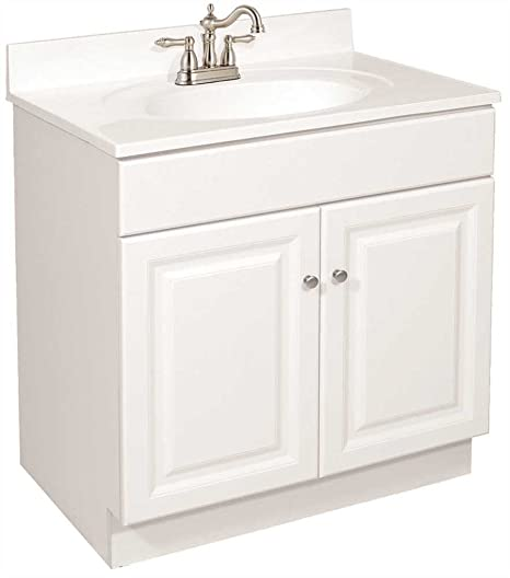 Fabulous Design House 103505 Wyndham Bathroom Vanity Cabinet Ready To Assemble 2 Door White 30 X 31 1 2 X 18 Download Free Architecture Designs Scobabritishbridgeorg