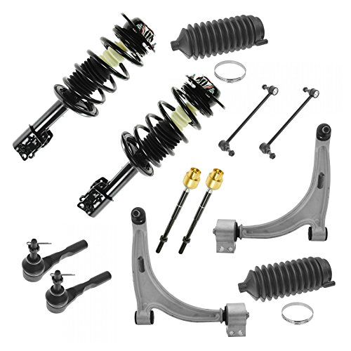 12 Piece Kit Strut Coil Spring Tie Rod Sway Bar Control Arm Ball Joint LH RH Set (Strut Tie Set Bar)