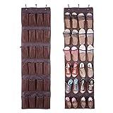 24 Pockets Hanging Shoes Storage Bag Box Shoe Holder Rack Storage Tidy Toy Hanger Over Door Sapateira Organizador