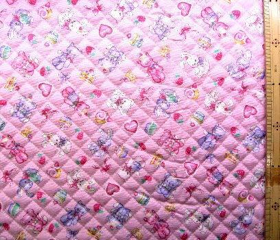 <Qプリント・キルティング生地>ぬいぐるみ(ピンク) (くま うさぎ リボン ハート ケーキ かわいい おしゃれ 男の子 女の子 子供 入園 入学 ピロル)
