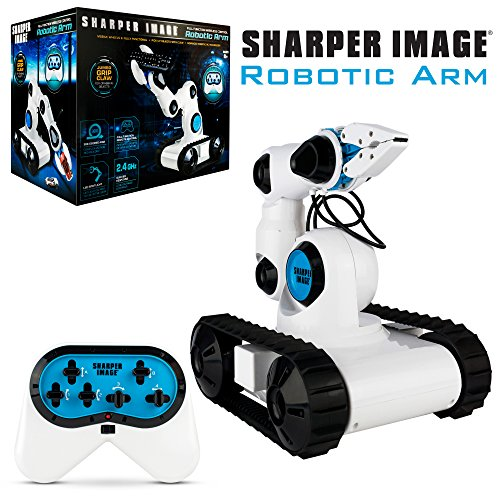 Sharper Image Full Function Wireless Control Robotic Arm Toy with Built-in LED Spotlight Jumbo Claw Grip & Tank Tread Wheels, 2.4GHz Long Range Battery-Operated RC, Best STEM Gift for Boys & Girls by Sharper Image (Image #8)
