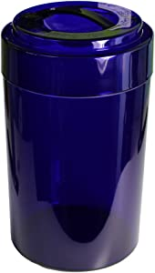 Tightvac EverythingVac Bulk Dry Goods Storage Container, 5 Pounds Plus, Cobalt Tinted Body/Cap