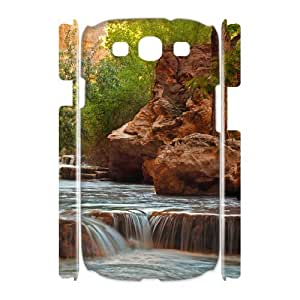 3D Samsung Galaxy S4 Cases, Girly Protective Small Rocky Waterfall Cases for Samsung Galaxy S4 {White}