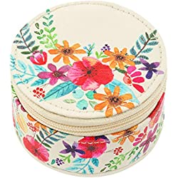 Karma Gifts Round Travel Case, Floral
