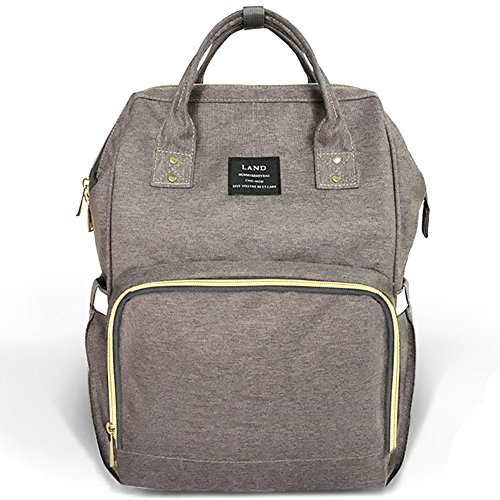 Baby Backpack Diaper Bag - HaloVa Diaper Bag Multi-Function Waterproof Travel Backpack Nappy Bags for Baby Care, Large Capacity, Stylish and Durable, Gray