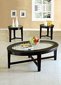 ACME Kort Espresso Coffee End Table Set 3 Piece & Amazon.com: ACME Kort Espresso Coffee End Table Set 3 Piece: Kitchen ...