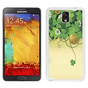 Beautiful Unique Designed Samsung Galaxy Note 3 N900A N900V N900P N900T Phone Case With Lucky Clover Illustration_White Phone Case