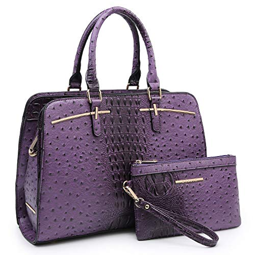 Purple Satchel Handbag - 9