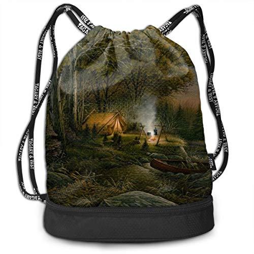 EVENING SOLITUDE Drawstring Gym Sack Sport Bag Printed School Backpack Travel Rucksack