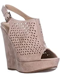 Womens Monique Peep Toe Special Occasion Platform Sandals