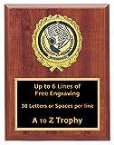 Attendance Plaque Awards 7x9 Wood Academic Achievement Education Trophy Games Sports Trophies Free Engraving