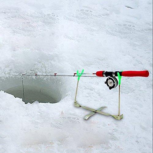 1 Piece氷釣りロッドスタンドアウトドア折りたたみ式ホルダーRestsラックTackle Pole、ソフトラバー素材onバケットとボックス釣りロッドStands   B077PH7PQK