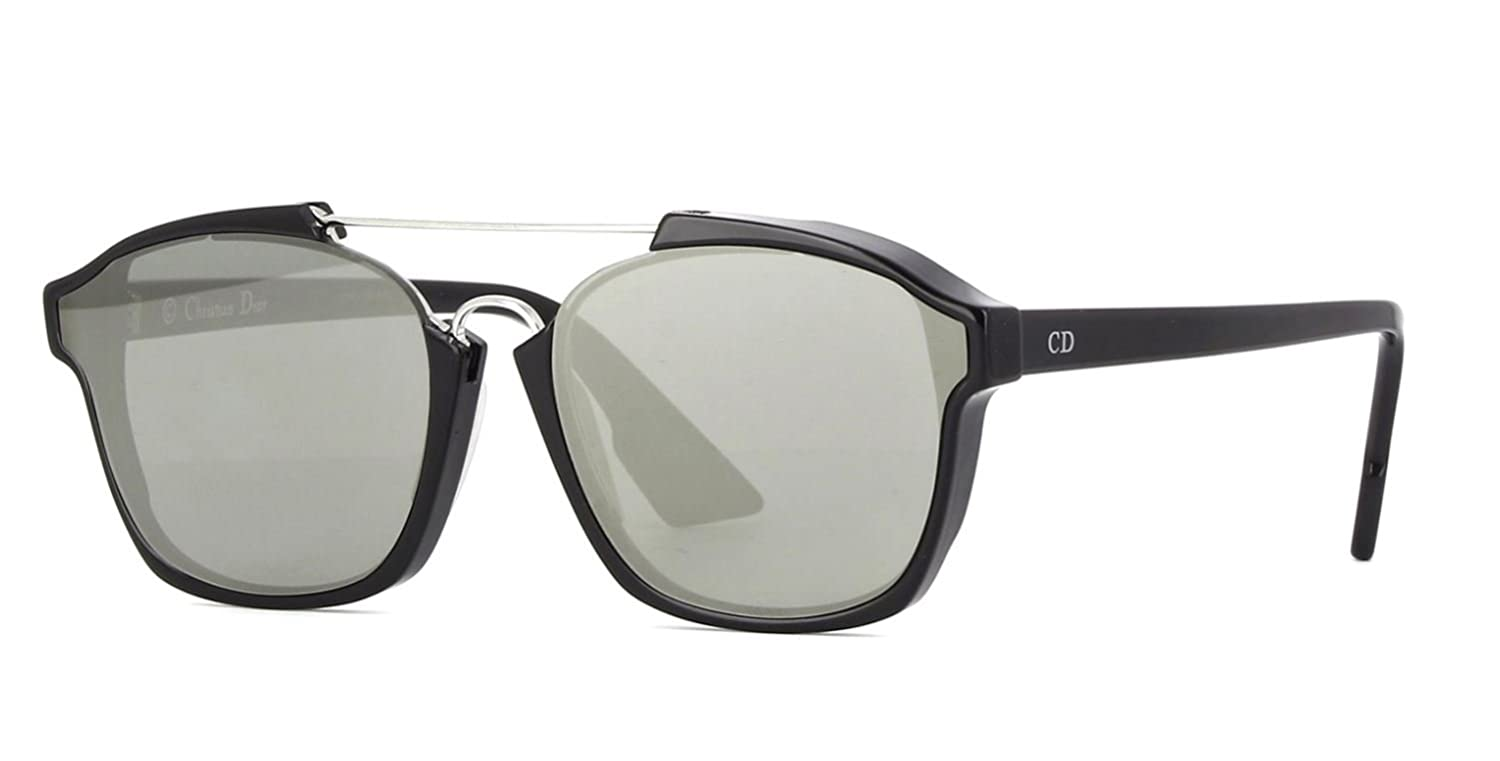 125b47f2721 New Christian Dior ABSTRACT 807 0T black silver mirror Sunglasses   Amazon.co.uk  Clothing