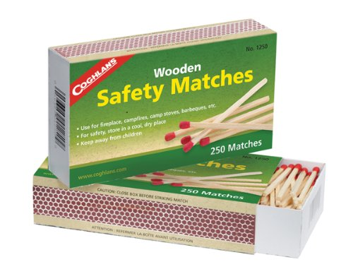 Coghlan's 1250  Wooden Safety Matches, Pack of 2