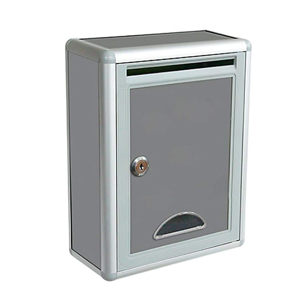 MagiDeal Outdoor Security Locking Mailbox Letter Box Suggestion Box Newspaper Box