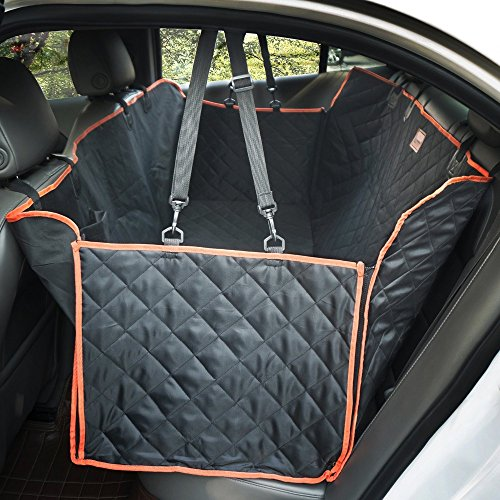 Pet Car Seat Cover- Waterproof & Hammock Durable- Machine Washable dog Seat Covers for Cars