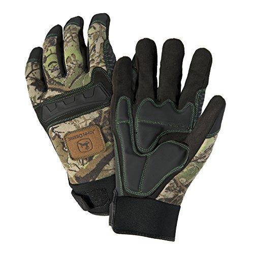John Deere JD00011 Anti-Vibration Hi-Dexterity Gloves, Large, Camouflage (Pack of 1 Pair)