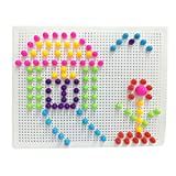 Fajiabao 184PCS Colorful Building Blocks Bricks Toys Construction Set Creative Mushroom Nails Pegboard Jigsaw Puzzle Game Birthday Gift for Boys Girls
