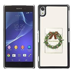 YOYO Slim PC / Aluminium Case Cover Armor Shell Portection //Christmas Holiday Decoration 1059 //Sony Xperia Z2